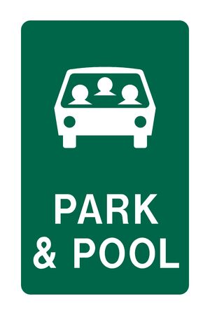Park and pool sign Stock Photo - 136866328