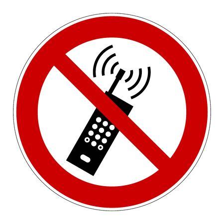 No cellphones allowed sign 版權商用圖片