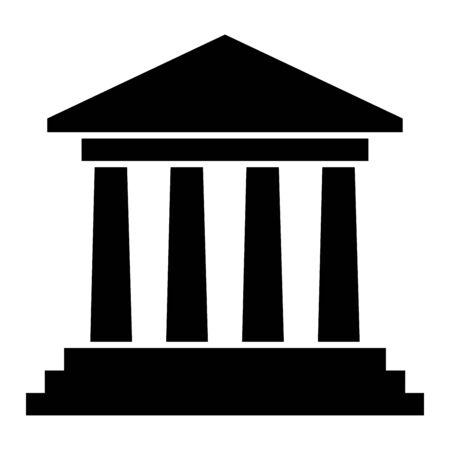Icona del simbolo del tribunale Archivio Fotografico