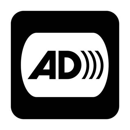 Audio description symbol