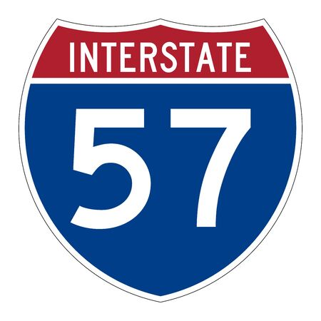 Interstate highway 57 road sign