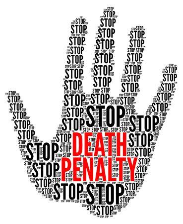 Detener el símbolo de la pena de muerte
