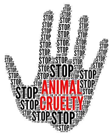 Detener el símbolo de la crueldad animal