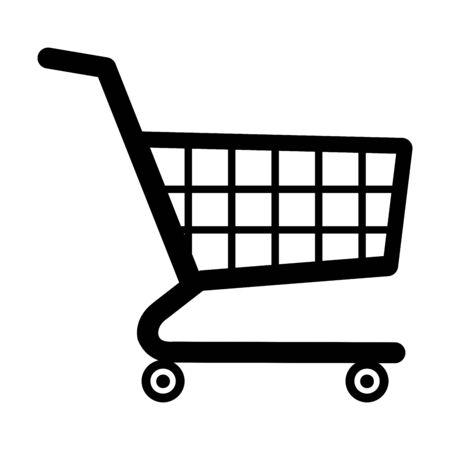Shopping cart symbol illustration