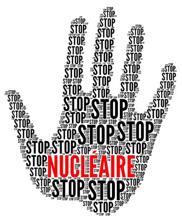 Stop nuclear sign in French language