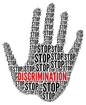 Arrêter l'illustration de signe de discrimination Banque d'images