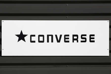 Macon, France - March 15, 2020: Converse is an American shoe company with a production output that primarily consists of apparel, skating shoes and lifestyle brand footwear