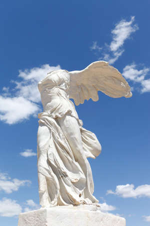 Sculpture of winged victory of Samothrace in Montpellier, France