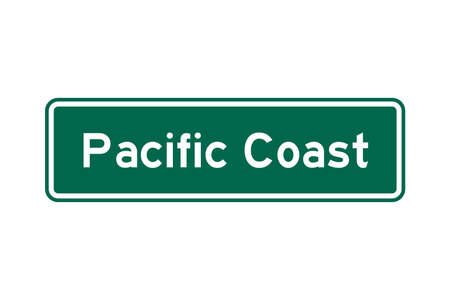 Pacific coast road sign in USA