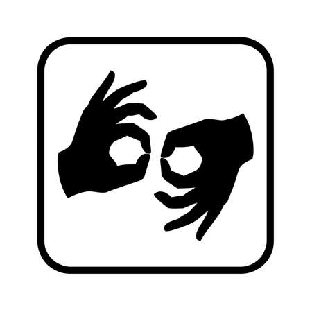 Sign language symbol illustration