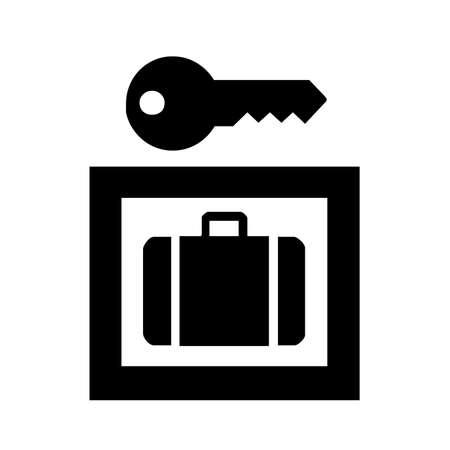 Luggage locker icon