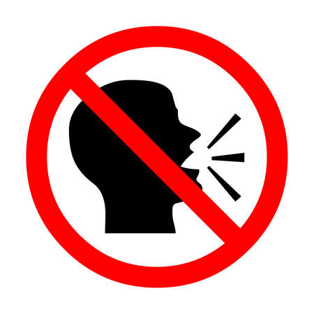 No talking sign illustration
