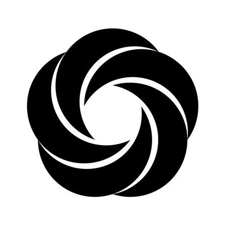 Five crescents symbol icon