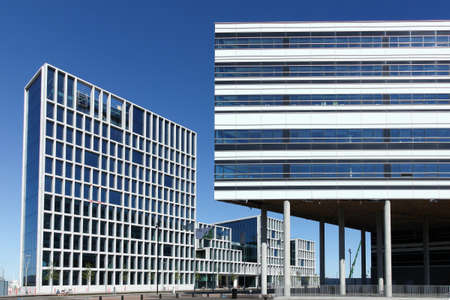 Aarhus, Denmark - July 2, 2015: Bestseller and Navitas building in Aarhus, Denmark Éditoriale