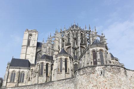Cathedral Saint Julien in Le Mans, France Banque d'images