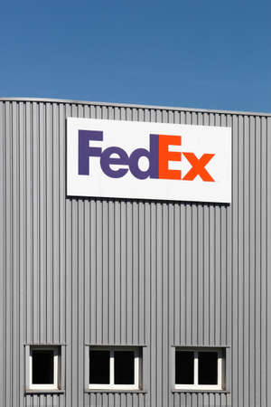 Voreppe, France - September 13, 2019: FedEx warehouse. FedEx Corporation is an American global courier delivery services company headquartered in Memphis, Tennessee