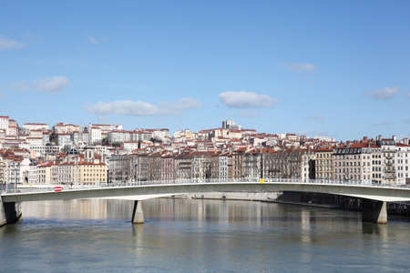 View of lyon with Saone river, France Éditoriale
