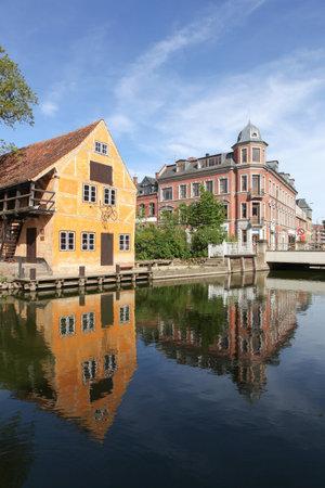 Aarhus, Denmark - June 6, 2018: The old town in Aarhus, Denmark