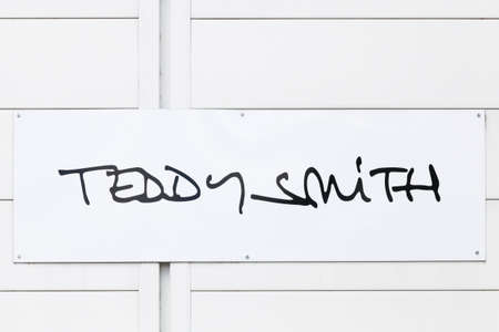 Saint Egreve, France - June 16, 2019: Teddy Smith logo on a wall. Teddy Smith is a French brand specializing in the design, manufacture and distribution of jeans, clothing and accessories