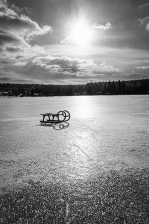 Sled on the ice 版權商用圖片