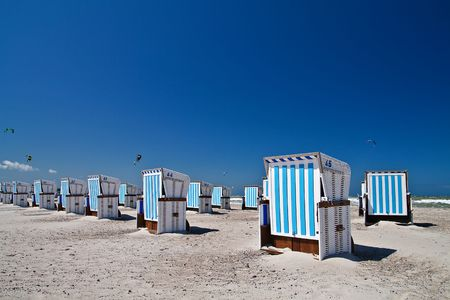 Beach chairs on the beach in Warnemuende (Baltic Sea). Stock Photo - 6375690