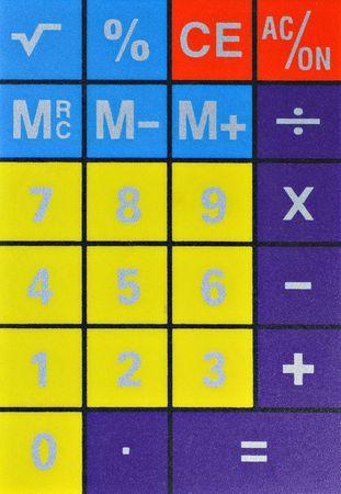 tablero de control: Panel de control de una calculadora.  Foto de archivo