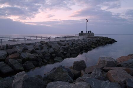 Mole in Warnemuende (Baltic Sea). Stock Photo - 6588320