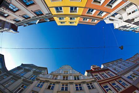 house gables: House gables in Rostock (Germany).