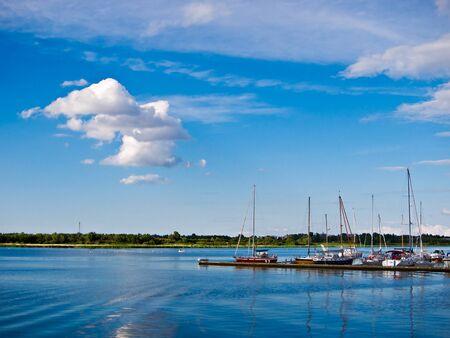 rostock: The city port of Rostock (Germany). Stock Photo
