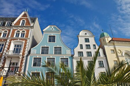 Historical buildings in Rostock (Germany). Stock Photo
