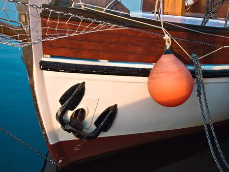 Detail of a sailing ship. Standard-Bild