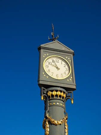 A clock on the promenade in Ahlbeck (Germany). photo