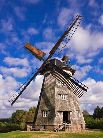 A wind mill in Benz (Germany). Stock Photo - 10936557