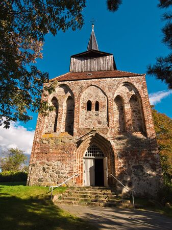 A church in Garz (Germany).