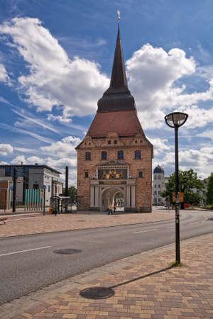 rostock: Town gate  in Rostock (Germany).