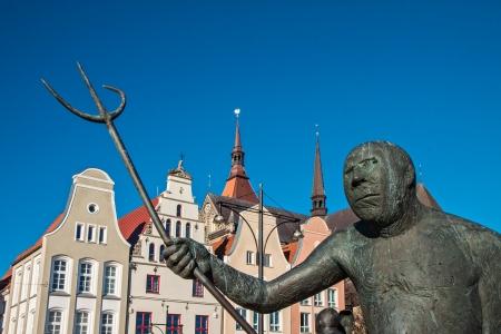 Sculpture in Rostock  Germany