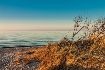 waterside: Evening on shore of the Baltic Sea