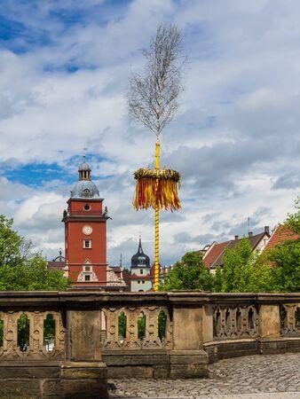 maypole: A Maypole in Gotha  Germany   Stock Photo