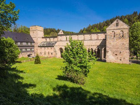 Monastery Paulinzella in Germany  Stok Fotoğraf