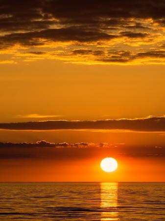 Sunset on the Baltic Sea coast