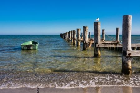 baltic: Groyne on the Baltic Sea coast