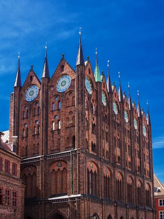 house gables: Historical Buildings in Stralsund  Germany