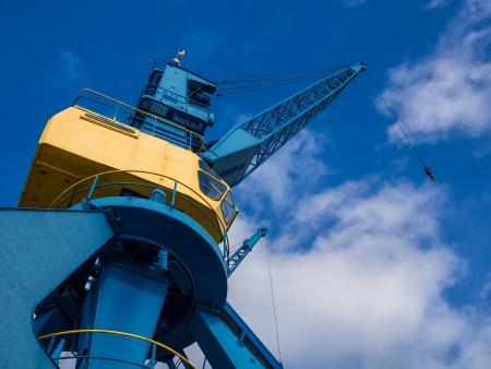 rostock: Crane in the port of Rostock  Germany