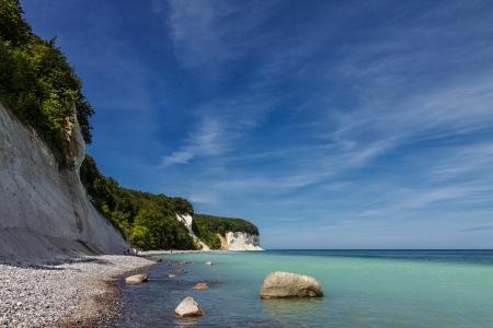 The Baltic Sea coast on Ruegen  Germany