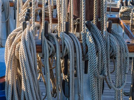 tall ship: Detail of a tall ship  Stock Photo