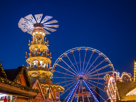 rostock: Christmas market in Rostock  Germany