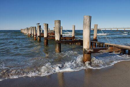groyne: Groyne on shore of the Baltic Sea in Germany