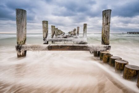 Groyne in Zingst  Germany   photo