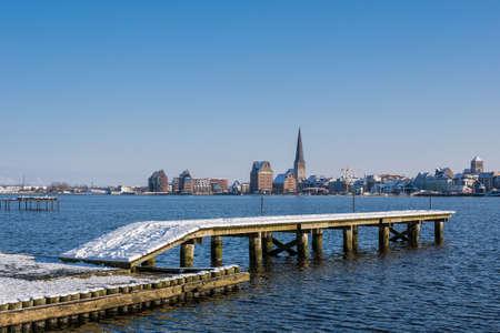 rostock: Rostock  Germany  in Winter time