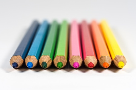 office supplies: Colored pencils Stock Photo